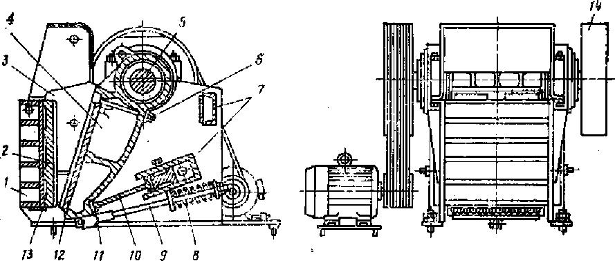 Щековая дробилка промышленная